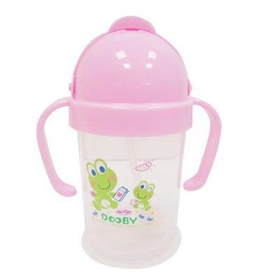 *babygo*DOOBY 大眼蛙卡通神奇喝水杯200cc【粉色】D-4121