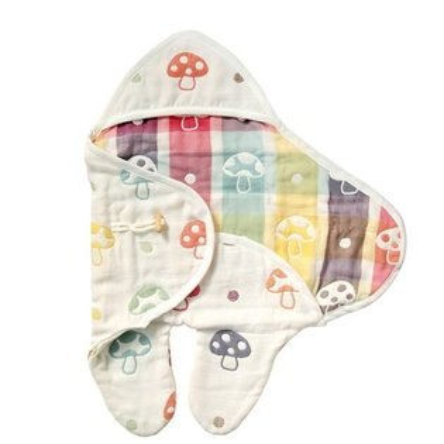 *babygo*日本Hoppetta六層紗蘑菇包巾724415