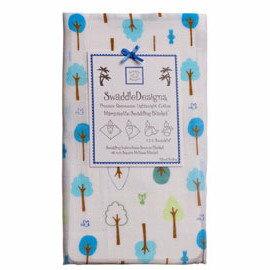 *babygo*美國 SwaddleDesigns 薄棉羅紗多用途嬰兒包巾 SD-118TB【小樹寶藍】