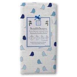 *babygo*美國 SwaddleDesigns 薄棉羅紗多用途嬰兒包巾 SD405TB【小雞寶藍 】