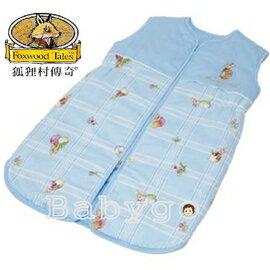 *babygo*狐狸村傳奇-嬰幼兒夏季睡袍-M【藍】
