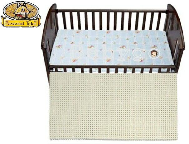 *babygo*狐狸村傳奇一般型乳膠嬰兒床墊【藍】120×60×2.5cm