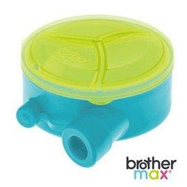 *babygo*英國 Brother Max 旋轉式奶粉分裝盒【藍】