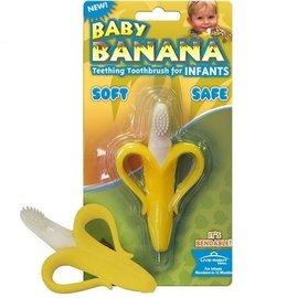 *babygo*Baby Banana 嬰幼兒學習軟性心型香蕉牙刷【0-1歲】