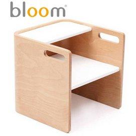 *babygo*美國Bloom -pogo 3合1 腳踏凳/坐凳/小桌子【原木白】