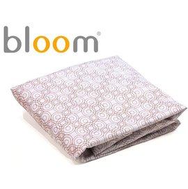 *babygo*美國Bloom -Alma Mini 迷你摺疊嬰兒床配件 - 床單2入(純棉款)【紅花棕】