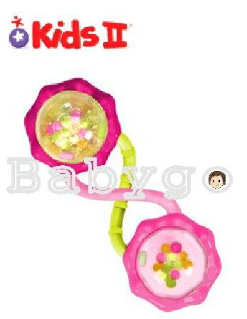*babygo*KIDS II 小小槓鈴固齒器-粉紅陽光