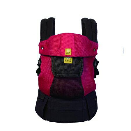 *babygo*美國Lillebaby-Airflow 3D透氣款透氣款揹巾【紅色charcoal Berry】加贈品牌奶粉分裝袋