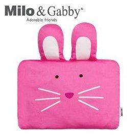 *babygo*Milo & Gabby 動物好朋友-嬰兒枕頭套(LOLA兔兔)不附枕頭