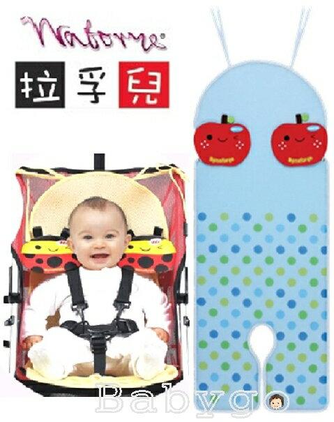 *babygo*拉孚兒會呼吸推車‧汽座通用透氣墊【蘋果】