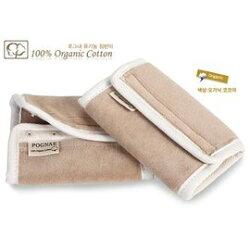 *babygo*韓國 Pognae 100% 天然有機棉口水巾【咖啡】
