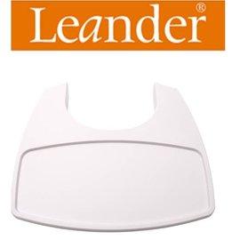 *babygo*丹麥Leander-高腳餐椅配件-餐盤 【白色】需要搭配二代護欄才能使用