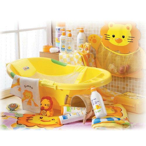 *babygo*小獅王辛巴嬰兒防滑浴盆 + 嬰兒浴網