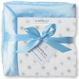 *babygo*美國 SwaddleDesigns 嬰兒車用嬰兒毯SD-430PB【點點藍】