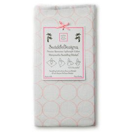 *babygo*美國 SwaddleDesigns 薄棉羅紗多用途嬰兒包巾 SD-052P【淺圈圈粉紅】