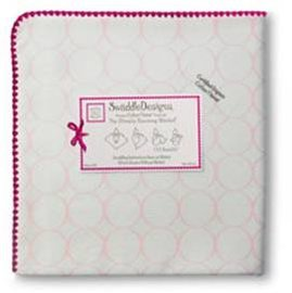 *babygo*美國SwaddleDesigns有機頂級多用途嬰兒包巾SD-161PP【圈圈粉】