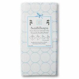 *babygo*美國 SwaddleDesigns 薄棉羅紗多用途嬰兒包巾SD-052B【淺圈圈藍】