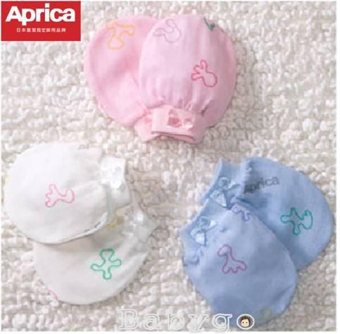 *babygo*Aprica幸福紗布手套【白色】