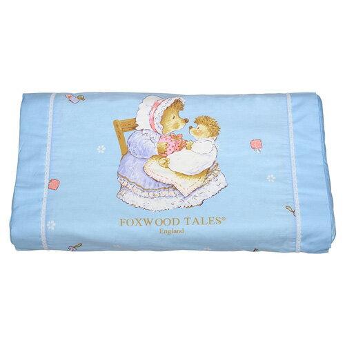 babygo:*babygo*狐狸村傳奇-乳膠嬰兒健康枕【藍】雙布套