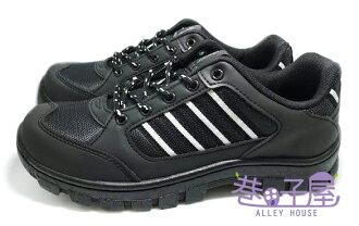 【巷子屋】TEC ONE 男款四條造型全車縫底運動休閒鞋 [90189] 黑 MIT台灣製造 超值價$590
