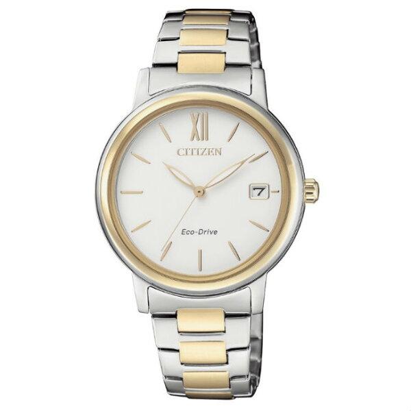 CITIZEN星辰錶FE6094-84A簡約時尚光動能腕錶白面33mm