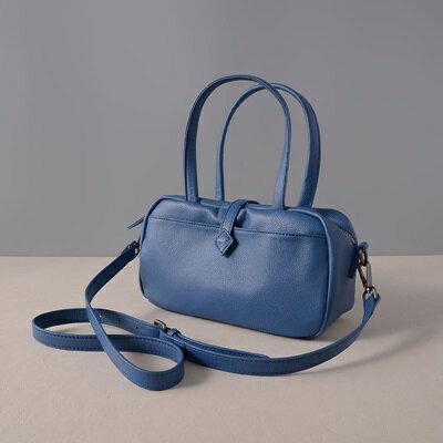 肩背包真皮手提包-牛皮純色休閒方型女包包3色73ut35【獨家進口】【米蘭精品】 1