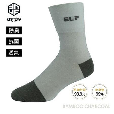 【UF72】elf 除臭 竹炭 寬口 無痕 休閒襪 UF7012 24-26 男女適用 (4色)(任選1件)