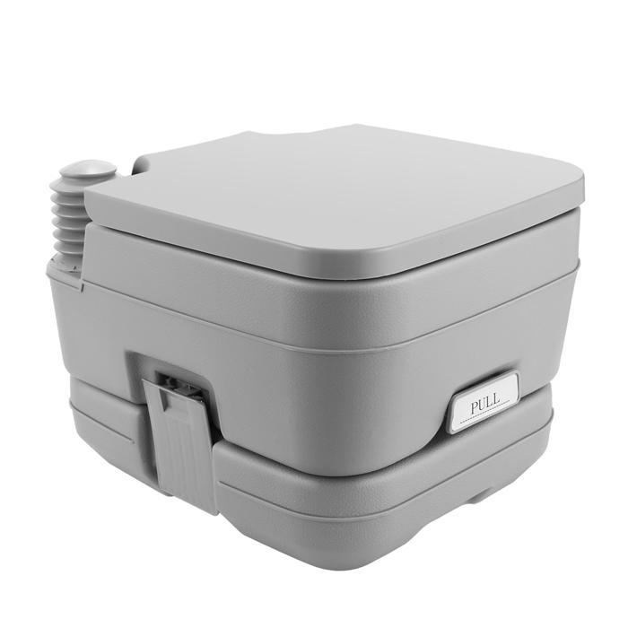 2.8 Gallon 10L Portable Toilet Travel Camping Outdoor/Indoor Toilet Potty Flush 2
