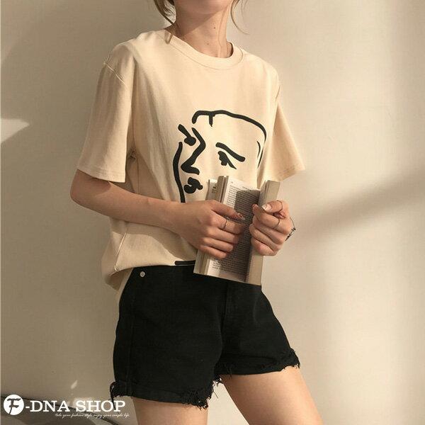 F-DNA★極簡印象派女王圓領短袖上衣T恤(2色-均碼)【ET12701】 2