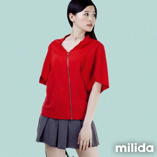 【Milida,全店七折免運】-早春商品-外套款-五分袖短版設計 0