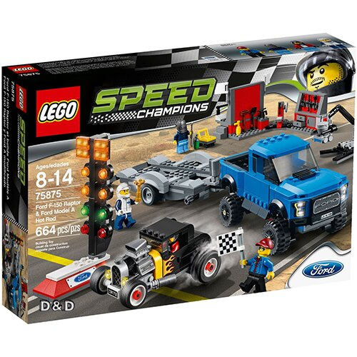 樂高積木 LEGO《 LT75875 》SPEED CHAMPIONS 系列 - Ford F-150 Raptor & Ford Model A Hot Rod