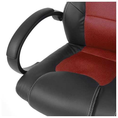 High-Back Executive Racing PU Leather Office Chair - Red 2