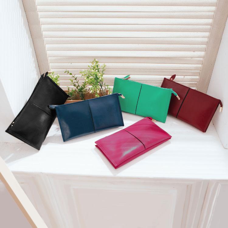 質感仿真皮2用長夾,簡約素色款手掛包 皮夾 斜背包 可放iphone6s 護照 89.Alley ☀5色 1