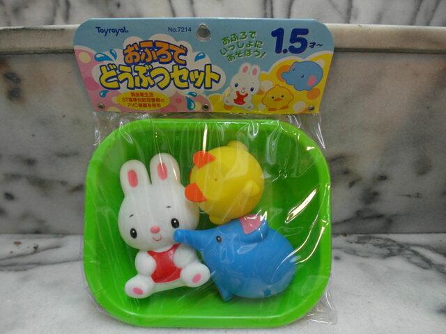 ~兒童玩具~軟膠玩具系列  小鴨.兔兔.大象組