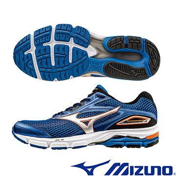 J1GC161003(藍X銀)享受慢跑!WAVE LEGEND 4 男慢跑鞋 A【美津濃MIZUNO】
