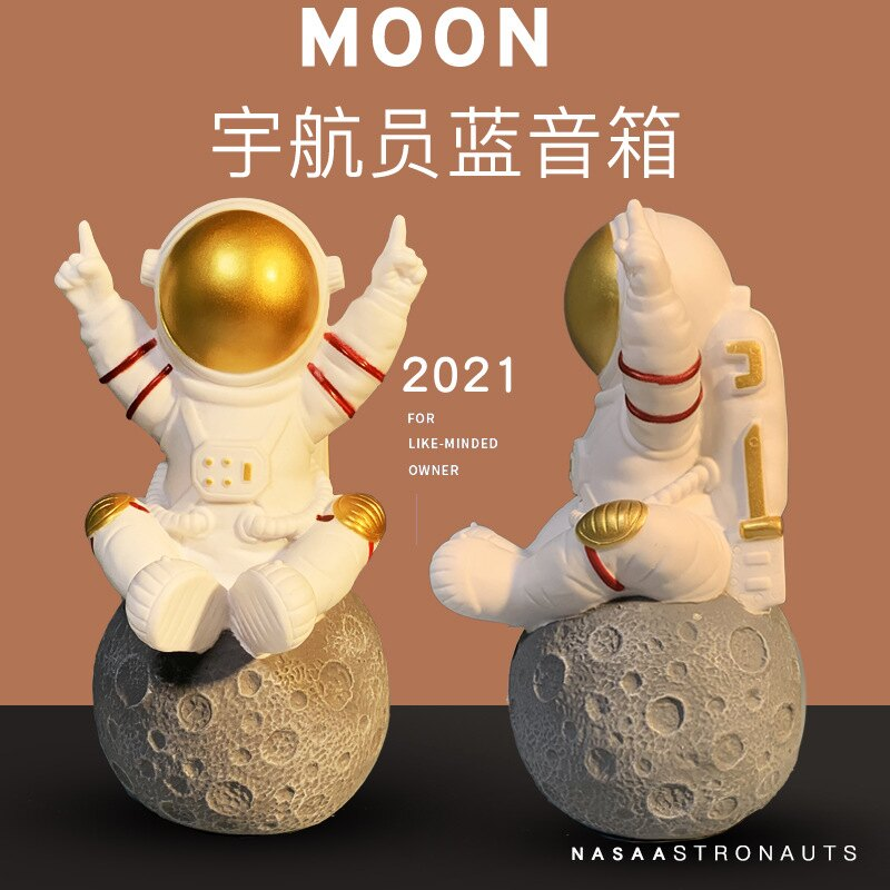 宇航員藍芽音箱新款創意禮品卡通生日禮物家居擺件音響Y