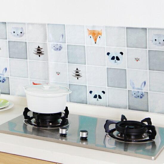 ♚MY COLOR♚廚房防油汙貼紙 鋁箔 耐熱 油煙 瓦斯爐 黏貼 油漬 清潔 防水 磁磚 牆貼 【Q242】