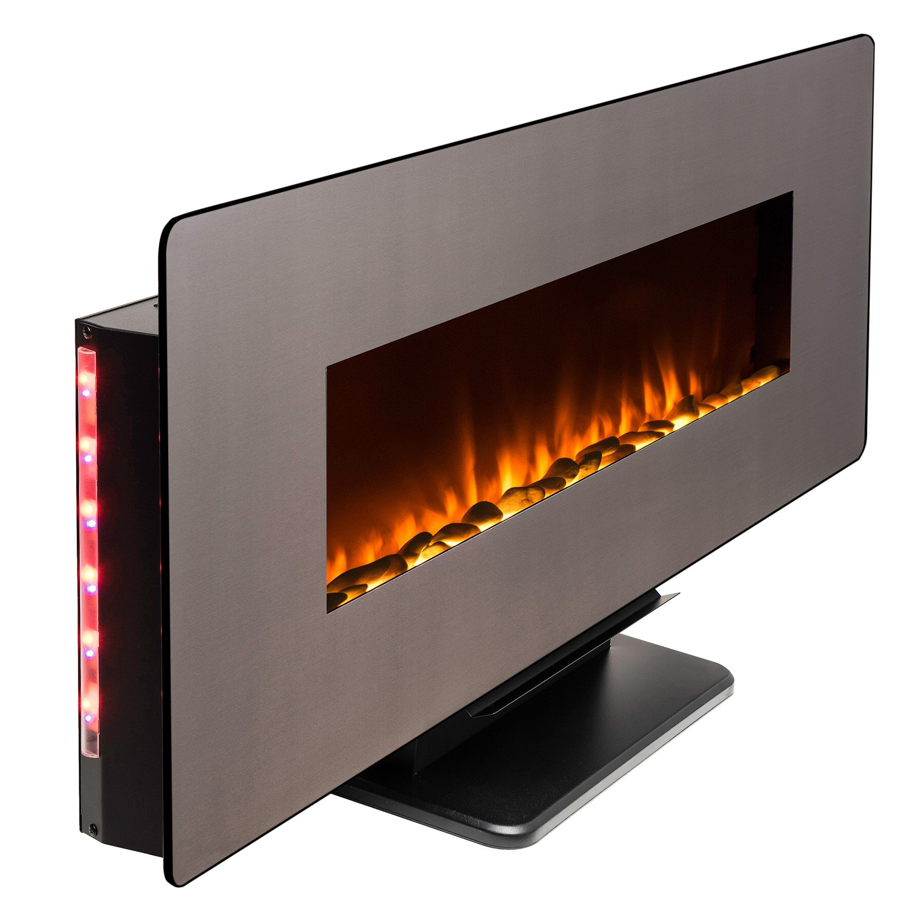 """AKDY 48"""" Freestanding Wall Mount Interchangeable Adjustable Flame Electric Fireplace Heater Stove w/ Remote 3"""