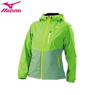 32TE678936(蘋果綠X灰綠)防水透溼 細刷毛內裡 女運動平織外套【美津濃MIZUNO】