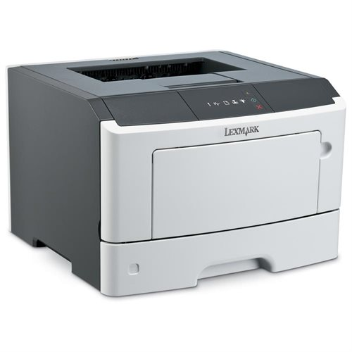 Lexmark MS310DN Laser Printer - Monochrome - 1200 x 1200 dpi Print - Plain Paper Print - Desktop - 35 ppm Mono Print - 300 sheets Standard Input Capacity - 50000 pages per month - Automatic Duplex Print - LED - Ethernet - USB 0