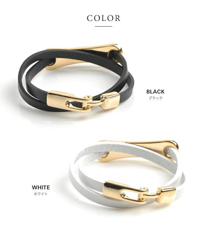 cream-dot 簡約設計高級真皮手環 / a00956。5色。(1680)日本必買 日本樂天代購 2