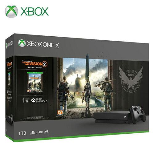 【Microsoft 微軟】Xbox One X 1TB《湯姆克蘭西:全境封鎖 2》同捆組【三井3C】