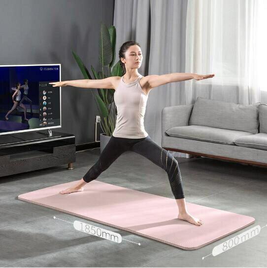 瑜伽墊 加厚加寬加長男女初學者防滑瑜伽健身舞蹈地墊家用運動