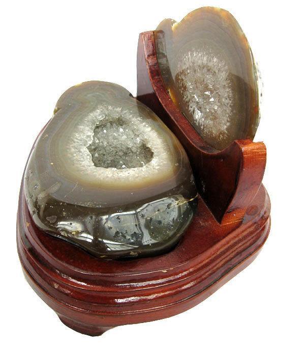 大顆粒白水晶聚寶盆擺件1.7kg瑪瑙聚寶盆水晶洞