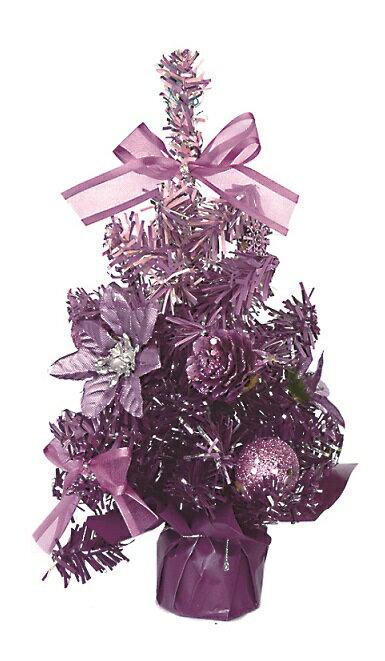 X射線【X080915】彩色成品小樹(紫),聖誕樹/聖誕佈置/聖誕禮物