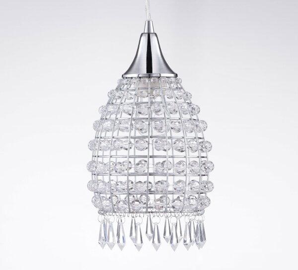 小巧鍍鉻透明壓克力珠吊燈-BNL00032