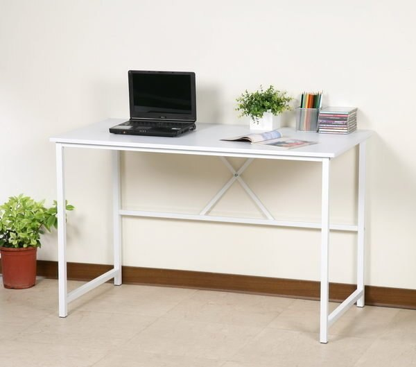 120公分電腦桌 工作桌 書桌^~25mm粗鐵管^(穩固耐用防潑水^)~馥葉~~ DE01