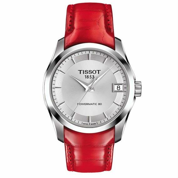 TISSOT天梭T0352071603101COUTURLER系列簡約時尚簡約機械腕錶32mm
