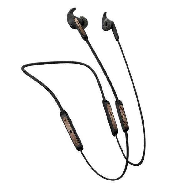 公司貨『JabraElite45e銅黑』藍芽耳機耳道頸掛式藍牙立體音效磁吸式IP54防塵防水可彎曲記憶鋼絲頸帶Ø12.4mm單體