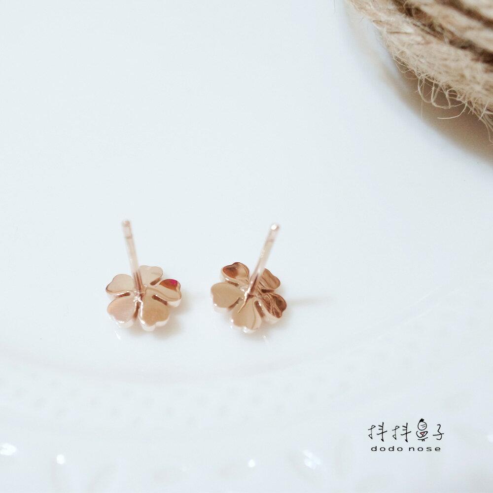 山茶花不鏽鋼耳環 3